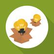 idea design. bulb icon. solution concept