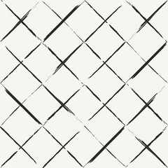 FototapetaModern hand drawn grungy diagonal tiles background - monochrome
