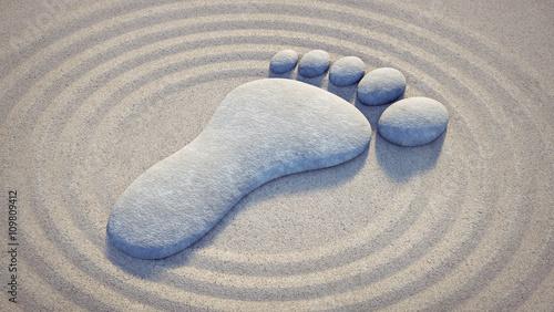symbol-stopy-w-piasku