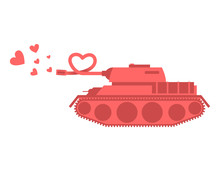 Pink Tank Of Love. Shot Heart....