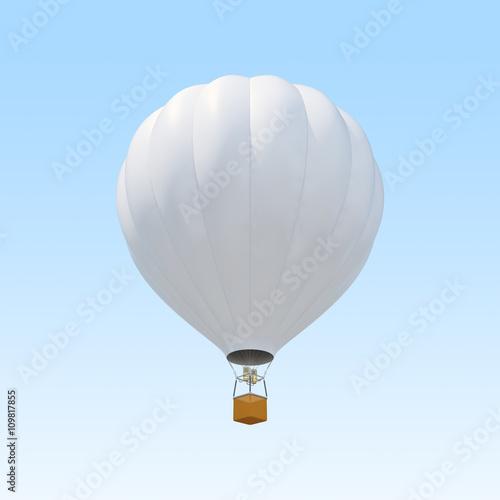 In de dag Ballon White air ballon on sky background.