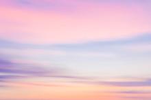 Defocused Sunset Sky  With Blu...