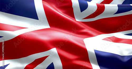 flag of Union Jack, uk england,  united kingdom flag Wallpaper Mural