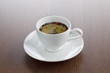 close-up shot of tea cup.