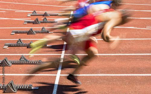 Fotografie, Obraz  Sprintstart in der Leichtathletik