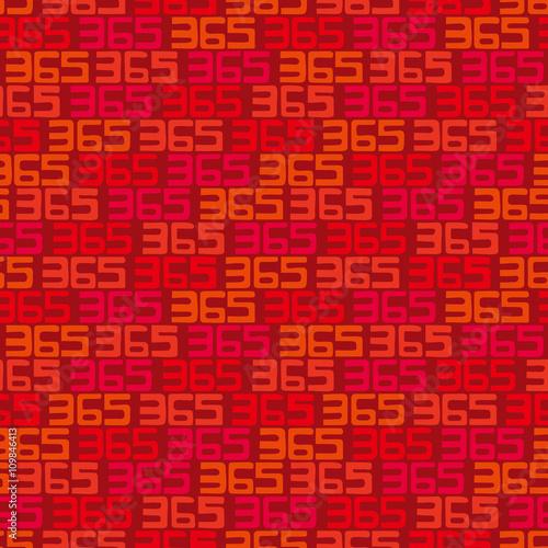 Fényképezés  365 background. Seamless pattern.Vector.365のパターン