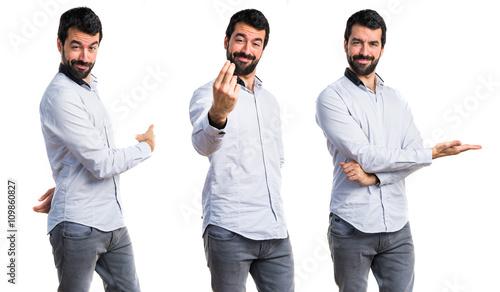 Valokuva  Man coming gesture