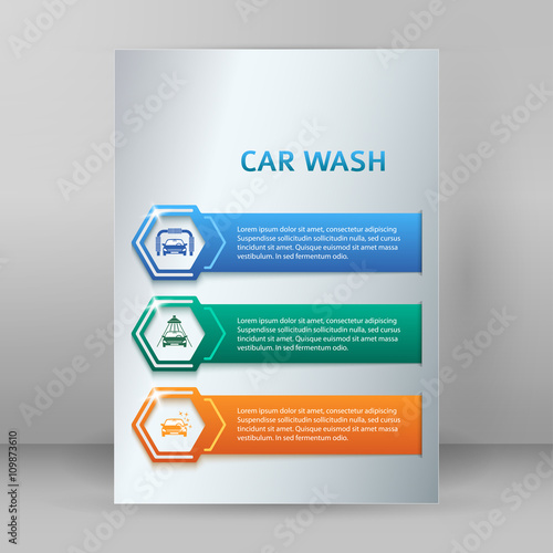 carwash booklet format a4 brochure layout pages buy this stock