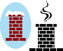 Brick Chimney Icon Snow