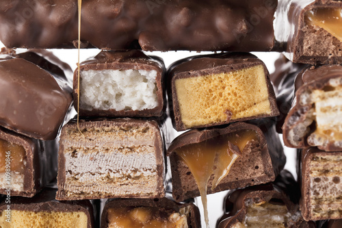 Photo  bunch of chocolate bars