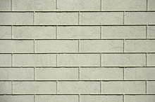 Old Gray Painted Brick Wall.