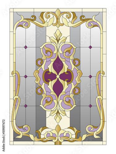 Naklejki witrażowe  stained-glass-pattern