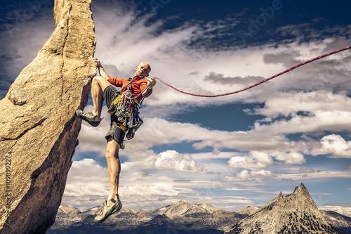 Climber on the edge. Canvas Print