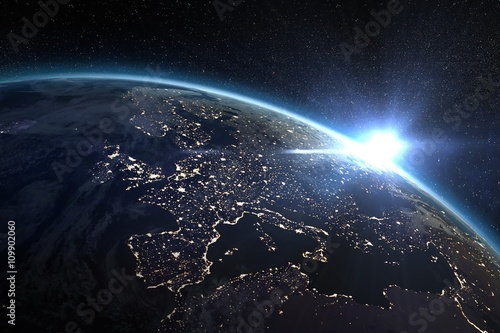 Aerial view of the Earth