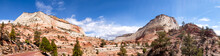 Zion National Park Utah Panorama With Road