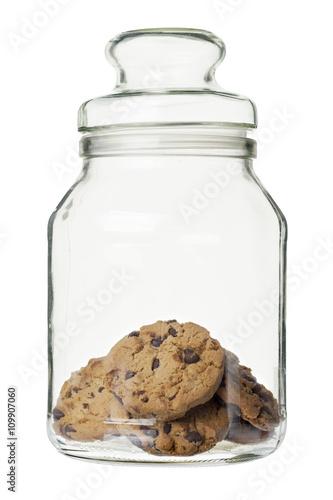 Foto cookies on the jar