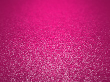Twinkling Glitter Background In Shades Of Pink And White With Depth Of Field Effect (3D Illustration)