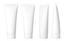 Blank White Cosmetic Tube Isol...