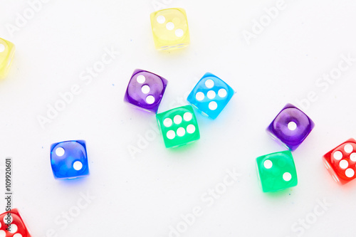 colored dice плакат