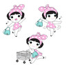 In The Mood For Shopping Character illustration