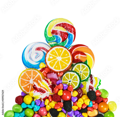 Keuken foto achterwand Snoepjes Mixed colorful candies