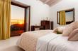 decorated bedroom interior