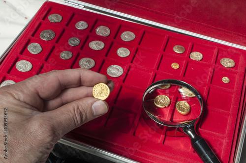 Collection de monnaies antiques Poster