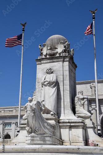 Photo Columbus Statue at Union Station in Washington DC