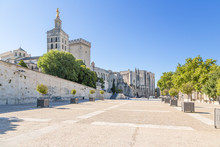 Avignon, France. Papal Palace And Cathedral (UNESCO World Heritage)