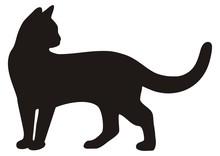 Black Cat, Vector Icon, Silhou...