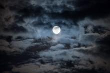 Moon On Cloudy Night