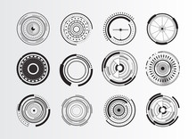 Set Of Abstract Circle Elements