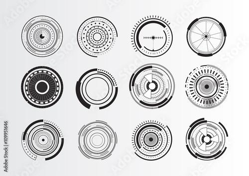 Fototapeta Set of abstract circle elements obraz
