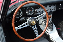 Steering Wheel Of A Classic Ja...