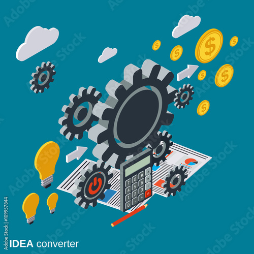 Creative Idea Idea Generator Innovation Flat Isometric