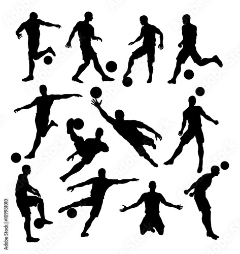 Photo  Soccer Player Silhouettes