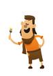 cartoon character cheerful artist fun