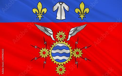 Flag of Argenteuil, France Canvas Print
