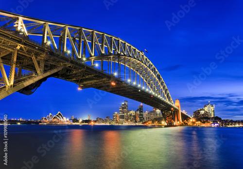 Staande foto Sydney Sy Kirribilli Bridge Right Arch CBD