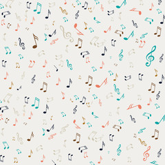 Fototapeta Muzyka / Instrumenty Vector Illustration of an Abstract Background with Music Notes