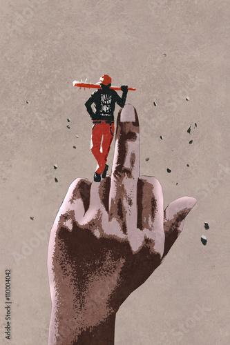 srodkowy-palec-akwarela