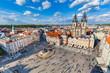 Old Town of Prague, Czech Republic. View on Tyn Church