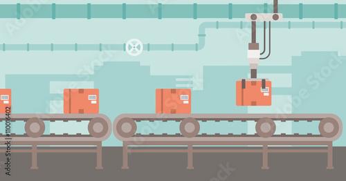 Fotomural Background of conveyor belt.