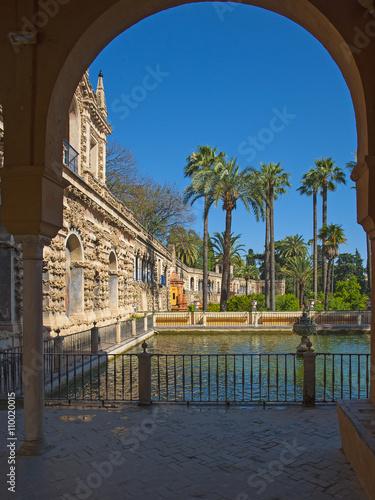 In de dag Detail of the Alcazar in Spain