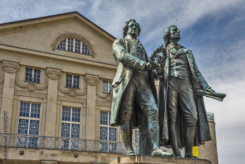 Foto op Canvas Artistiek mon. Goethe and Shiller Monument