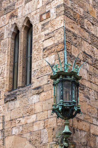 Photo  The Green Lamp at Alnwick Castle