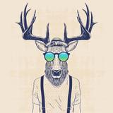 Fototapeta Młodzieżowe - cool deer