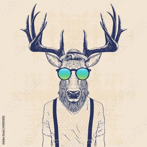 Photo cool deer
