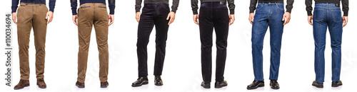 Fototapeta Fashion concept with trousers on white