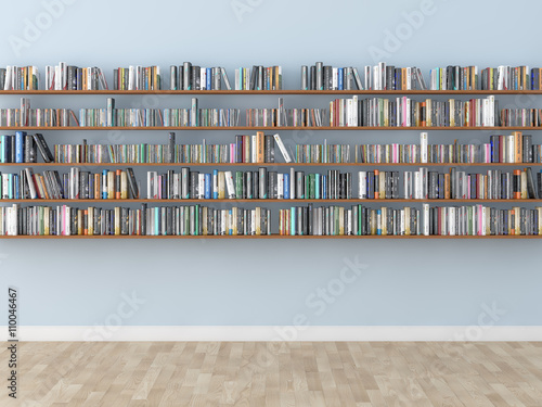 Canvas Print interior bookshelf room library